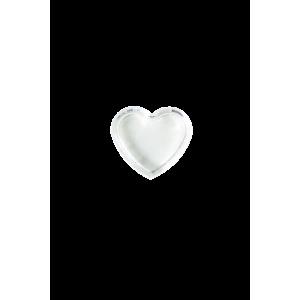 Lot de 2 petits pots en forme de coeur