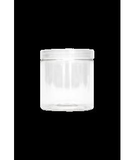 Pot vide 300ml avec couvercle en plastique