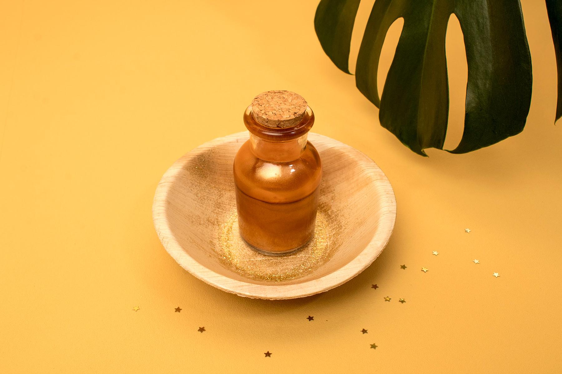 DIY : L'huile scintillante corps et cheveux